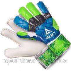 Детские вратарские перчатки SELECT 04 Hand Guard (332) сине/зелено/белый p.7