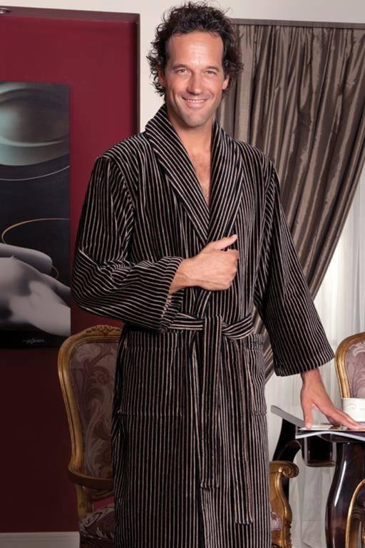 Набор Soft cotton PLATINUM халат и два полотенца коричневый, S 44-46