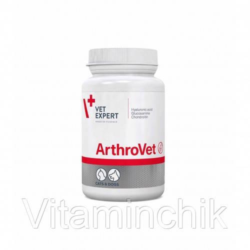 Таблетки VetExpert АртроВет поддерживающий и защищающий суставы собак и кошек, 60 табл,