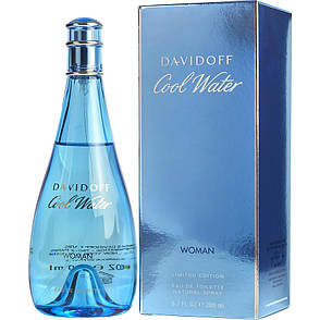 Davidoff Cool Water Woman Туалетная вода 100 ml (Давидофф Кул Ватер Вотер Вумен Вумэн) Женский Парфюм Аромат, фото 2