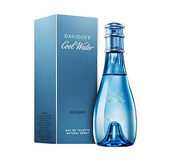 Davidoff Cool Water Woman Туалетная вода 100 ml (Давидофф Кул Ватер Вотер Вумен Вумэн) Женский Парфюм Аромат, фото 3