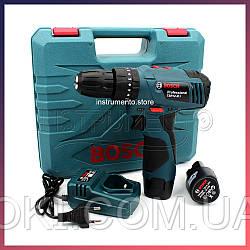 Ударный шуруповерт Bosch TSR12-2LI (12V 3Ah Li-Ion) с набором инструментов. Аккумуляторный шуруповёрт Bosch