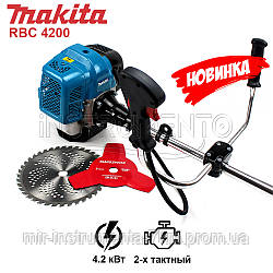 НОВИНКА! Мотокоса Makita RBC 4200 (4.2 кВт, 2х тактный) Бензокоса Макита, кусторез, триммер