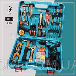 Аккумуляторный шуруповерт Makita DF330DWE (12V, 2Ah) с набором инструментов (мультитулс). Шуруповёрт Макита