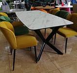 М'який стілець M-44 гірчичний вельвет Vetro Mebel, фото 2
