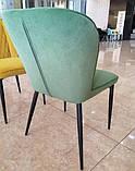 Мягкий стул M-44 авокадо вельвет Vetro Mebel, фото 3