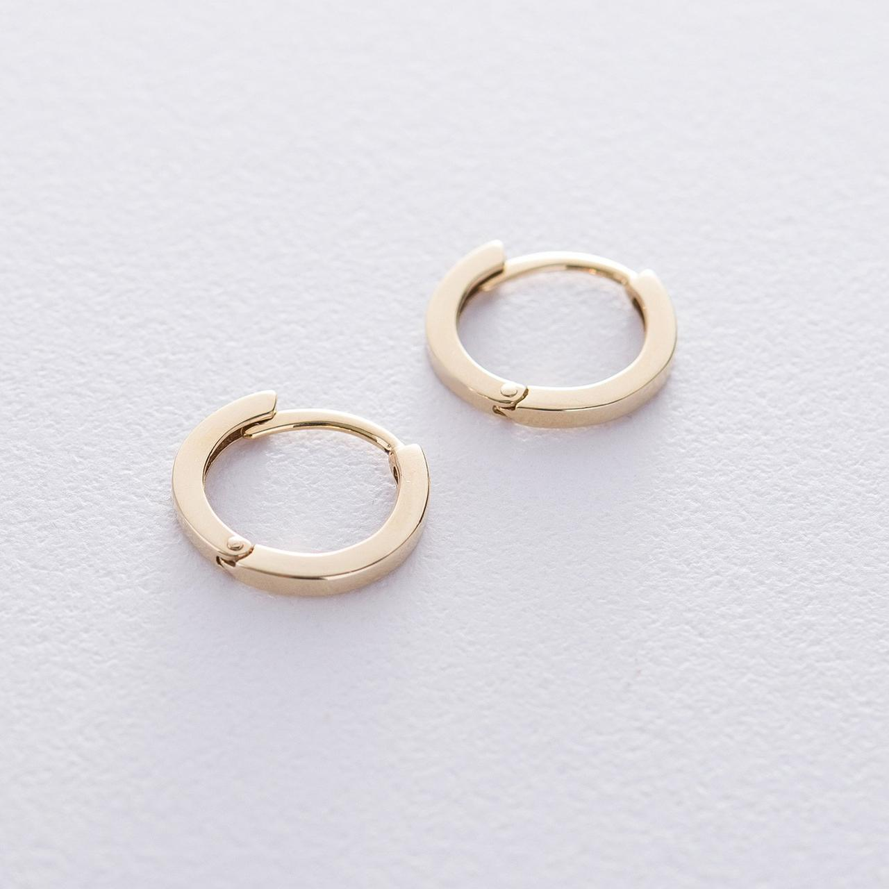 Серьги-кольца в желтом золоте