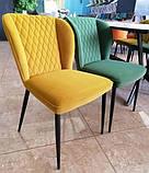 Мягкий стул M-44 авокадо вельвет Vetro Mebel, фото 2