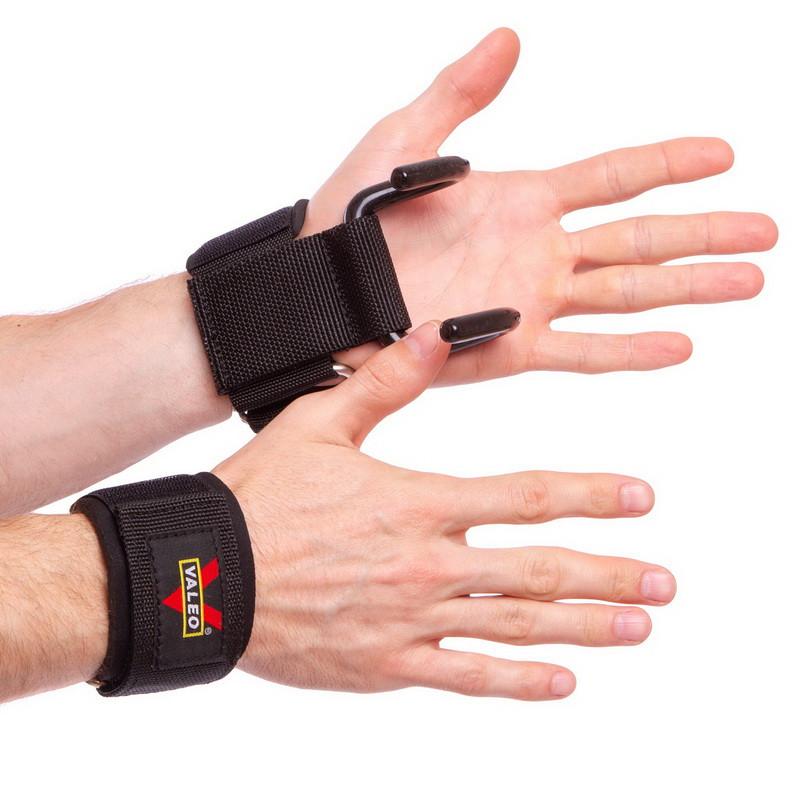 Крюк-ремни атлетические для уменьшения нагрузки на пальцы (2шт) VALEO XG257 (реплика)
