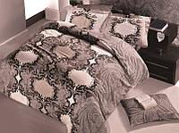 Постельное белье 200х220, сатин Gokay Miray свтло коричневый.