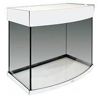 Аквариум AquaStar овальная передняя стенка, 60 л, LED, серебро