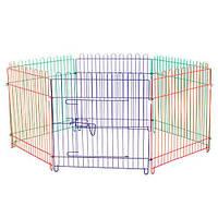 Клетка-манеж Tesoro 3000 для щенков, металлическая, 62х62 см