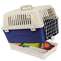 Переноска с отделением для аксессуаров Ferplast Carrier Atlas 10 Organizer для животных, пластик, 33,2x47,6x33,6 см