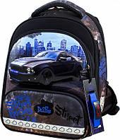 Рюкзак школьный ортопедический ранец DeLune для мальчика Street Racing + сменка + жесткий пенал + часы