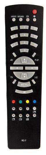 Пульт для телевизора Рубин RC-7 Черный