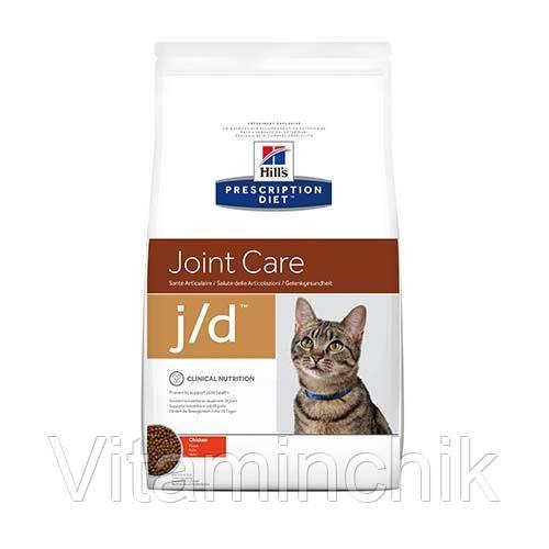 Сухой корм Hills Prescription Diet Feline j/d Chicken для кошек, с курицей, 2 кг