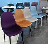 Мягкий стул M-10 горчичный  вельвет Vetro Mebel (бесплатная доставка), фото 4