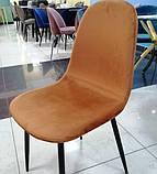 Мягкий стул M-10 горчичный  вельвет Vetro Mebel (бесплатная доставка), фото 2