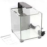 Аквариум Resun AC 02 для петушка, стекло, 1.6 л, 139x139x149 мм