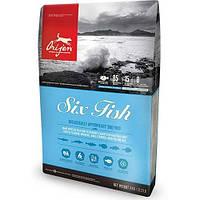 Сухой корм Orijen 6 Fish Dog со вкусом рыбы для собак всех пород и возрастов, 6 кг
