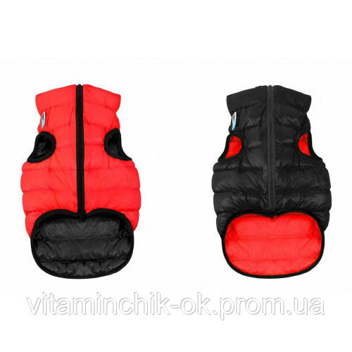 Двусторонняя куртка AiryVest S30 для собак, красно-черная