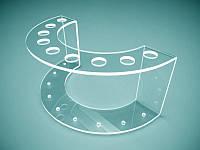 Прозора підставка під ручки на 9 шт, 160х60х85 мм (Товщина акрилу : 1,8 мм; ), фото 1