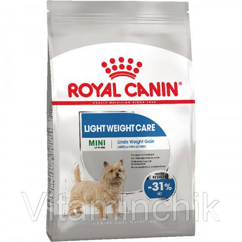 Сухой корм Royal Canin Mini Light Weight Care для собак мелких пород с лишним весом весом, 3 кг