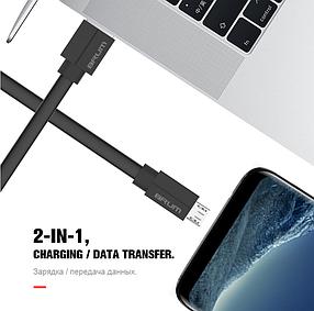 Кабель USB BRUM Silicon U010m Micro USB (2.4A) (1M) черный, фото 2