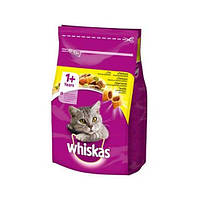 Сухой корм Whiskas 1+ с курицей для взрослых кошек, 14 кг