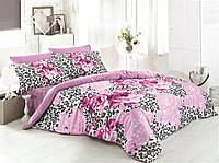 Постельное белье 160х220, сатин Gokay Mistik розовые розы.