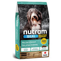 Сухой корм I20 Nutram Ideal Solution Support Sensitive для взрослых собак с проблемами кожи, шерсти или желудка, с ягненком и коричневым рисом, 20 кг