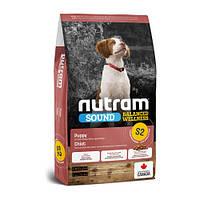 Сухой корм S2 Nutram Sound Balanced Wellness Natural Puppy для щенков, с курицей и цельными яйцами, 20 кг