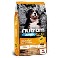 Сухой корм S3 Nutram Sound Balanced Wellness Puppy для щенков крупных пород, с курицей и овсянкой, 20 кг