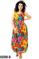 Женские летние платья яркие свободного кроя