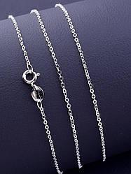 Серебряная цепь 925 пробы унисекс длина 40 см тонкая