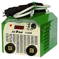 Сварочный инвертор Атом I-250D с комплектом кабелей КГ-25 3+4 м и зажимами Abicor Binzel