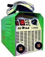 Сварочный инвертор Атом I-180M с кабелем 3+2 м и зажимами Abicor Binzel