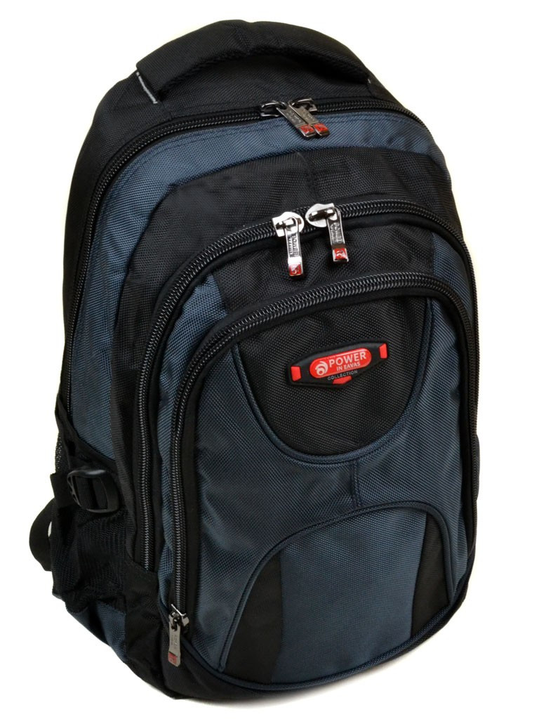 Рюкзак Городской нейлон Power In Eavas 920 black-blue