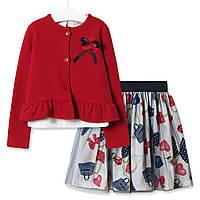 Комплект для девочки 3 в 1 Модница, красный Baby Rose (80)