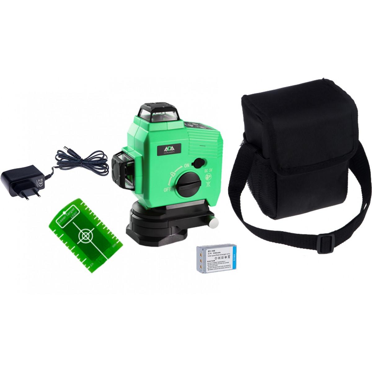Нивелир лазерный линейный ADA TopLiner 3x360 GREEN