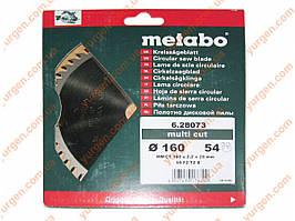 Пильный диск по дереву Metabo Ø160x20, 54 зубов.