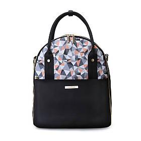 Сумка-рюкзак для мамы Mommore черная водостойкая (FB0090208A001MM) + коврик для пеленания