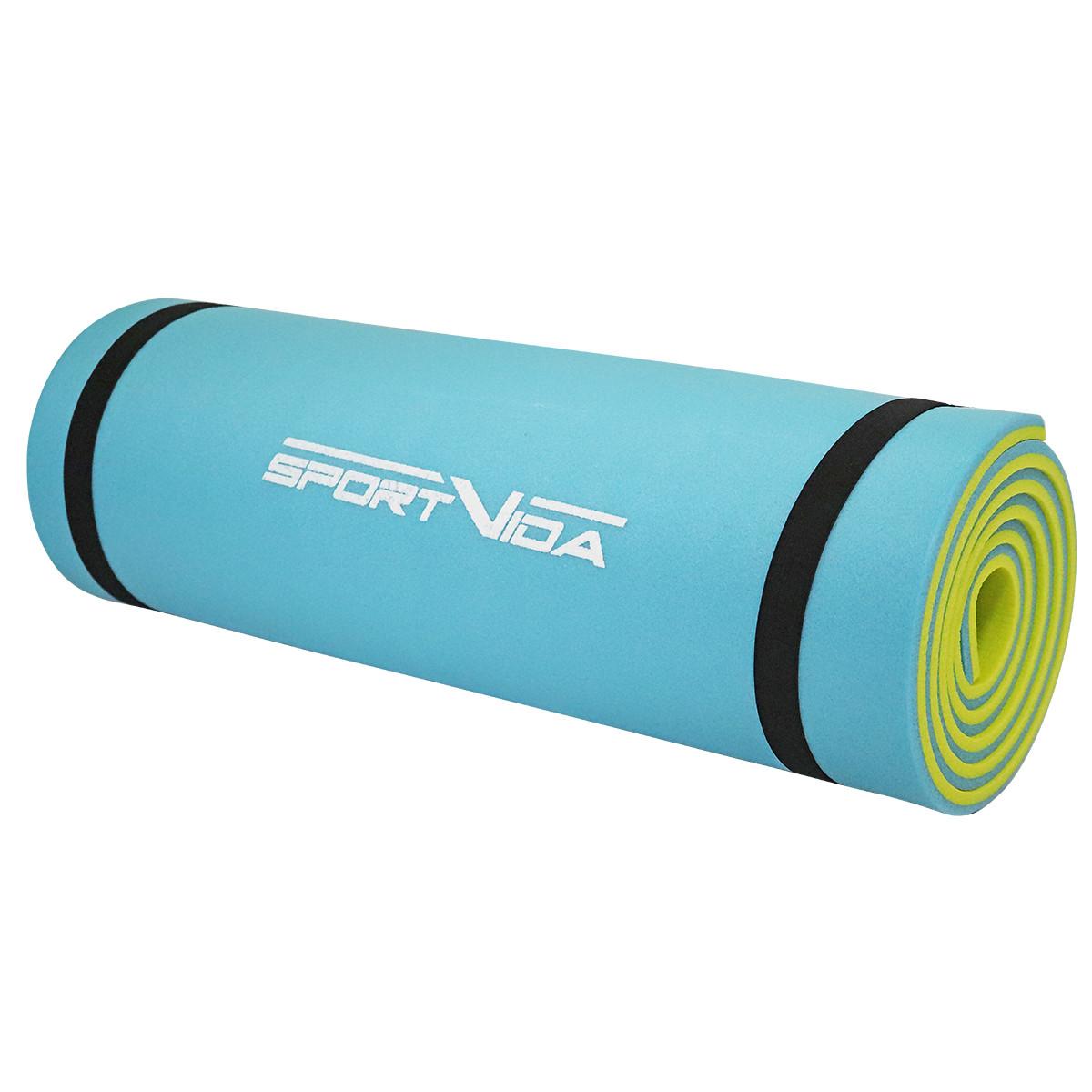 Коврик туристический (каремат) SportVida XPE 1 см SV-EZ0003 Blue/Yellow