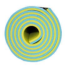 Коврик туристический (каремат) SportVida XPE 1 см SV-EZ0003 Blue/Yellow, фото 2