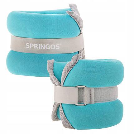 Утяжелители-манжеты для ног и рук Springos 2 x 1 кг FA0071, фото 2
