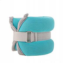 Утяжелители-манжеты для ног и рук Springos 2 x 1 кг FA0071, фото 3