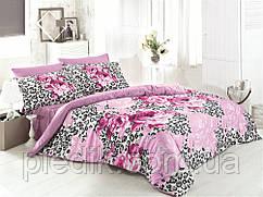 Семейное постельное белье 160х220х2, сатин Gokay  Mistik розовые розы.