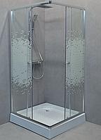 Душова кабіна StarWhite квадратна (90х90) низький піддон, малюнок шовкограф, Y-6850P