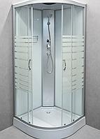 Гидробокс StarWhite 90x90 низкий поддон, без электричества, стекло узор, 8302W