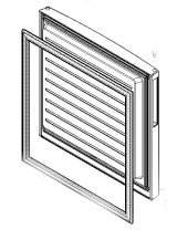 Уплотнительная резина холодильника Bosch KGV39VW31 морозилка отделение 00686535